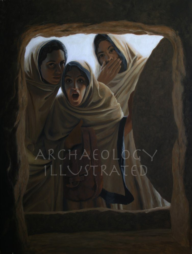 """He Has Risen"" Mary, Mary Magdalen and Martha Witness the Resurrection of Jesus - Archaeology Illustrated"