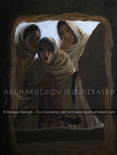 """""""He Has Risen"""" Mary, Mary Magdalen and Martha Witness the Resurrection of Jesus - Archaeology Illustrated"""