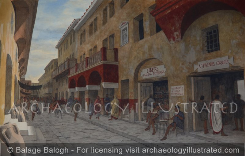 A Street in Ostia, the Port City of Rome. 2nd century AD - Archaeology Illustrated