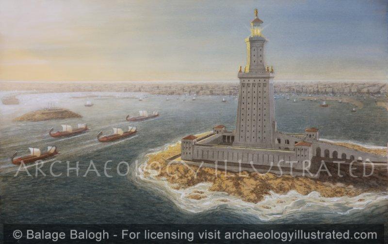 Alexandria, Pharos Lighthouse - Archaeology Illustrated