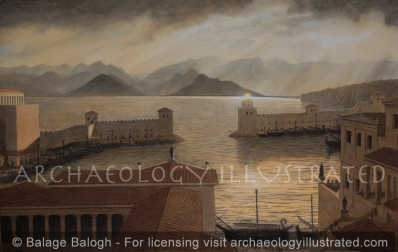 Antalya (Ancient Attalia) Harbor, Southern Coast of Turkey, Looking West Towards the Mountains of Lycia, 1st century AD - Archaeology Illustrated