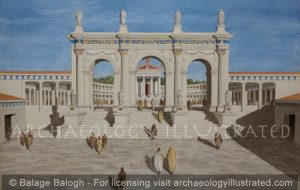 Antioch of Pisidia, Entrance Gate to the Augusteum, (Imperial Cult Center) 1st century AD - Archaeology Illustrated