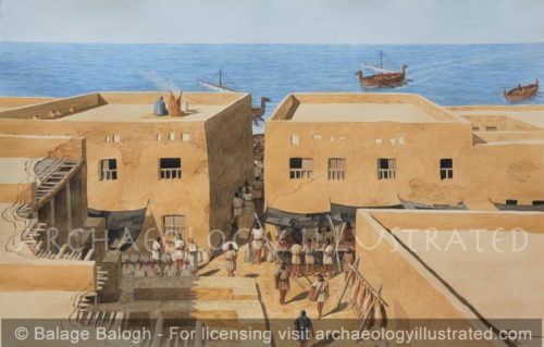 Ashkelon, Philistine City, Southern Israel. Local Market, 7th century BC - Archaeology Illustrated