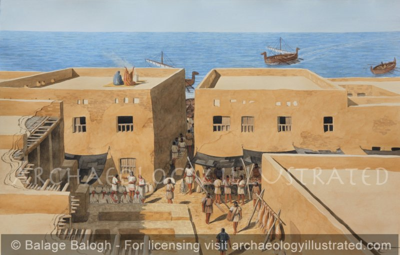 Ashkelon, Philistine City, Southern Israel. Local Market, 7th century BC - Archaeology Illustrated