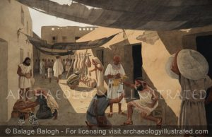 Ashkelon, Philistine City, Southern Israel. Local Market in Side Street, 7th century BC - Archaeology Illustrated