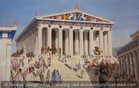 Athens, Acropolis, The Parthenon, Western Facade. 5th century BC - Archaeology Illustrated