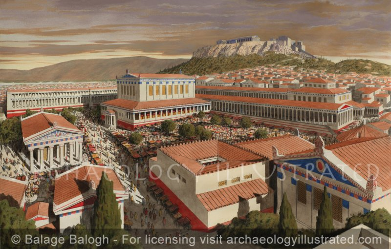 Athens, The Agora and the Acropolis, 1st century AD - Archaeology Illustrated