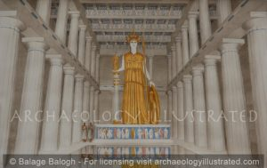Athens, The Parthenon with the Cult Image of Athena - Archaeology Illustrated