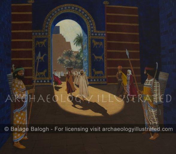 "Babylon, Gateway to the ""Etemenanki"", the Ziggurat Courtyard, 6th century BC - Archaeology Illustrated"