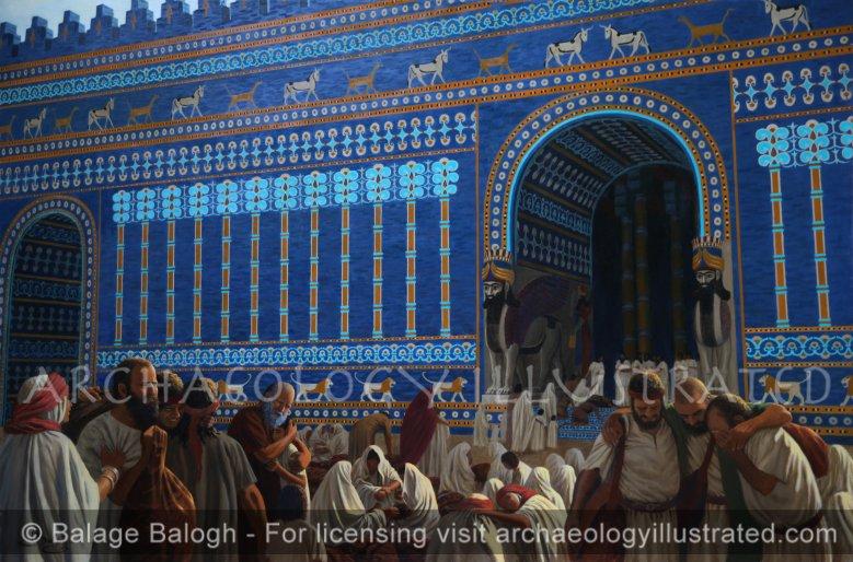 Babylon, Jewish Exiles Gathered at Nebuchadnezzar's Throne Room, 586 BC