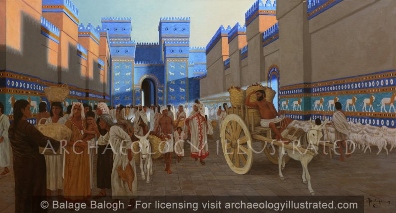 Babylon, The Ishtar Gate and Processional Avenue, 6th century BC - Archaeology Illustrated