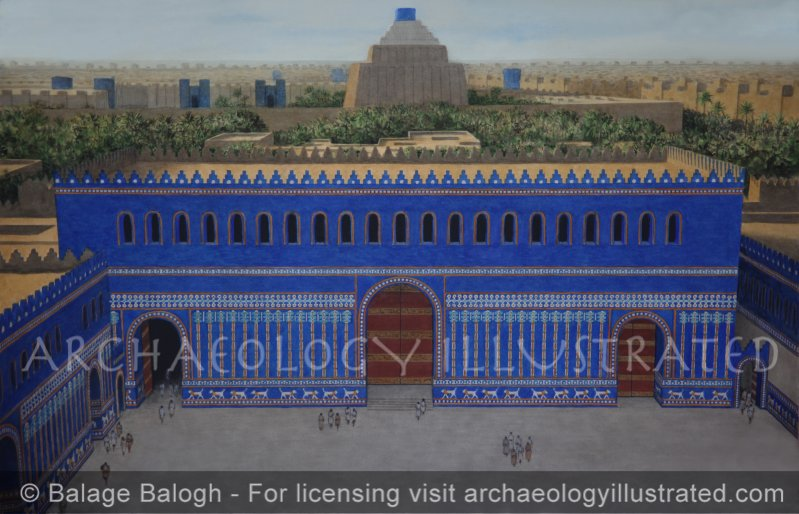 Babylon, the Throne Room Building of Nebuchadnezzar's Palace Complex, 6th century BC - Archaeology Illustrated