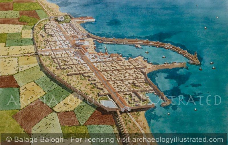 Caesarea, Northern Israel, 1st century AD - Archaeology Illustrated