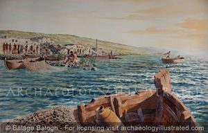 Capernaum from a Fishing Boat on the Sea of Galilee - Archaeology Illustrated