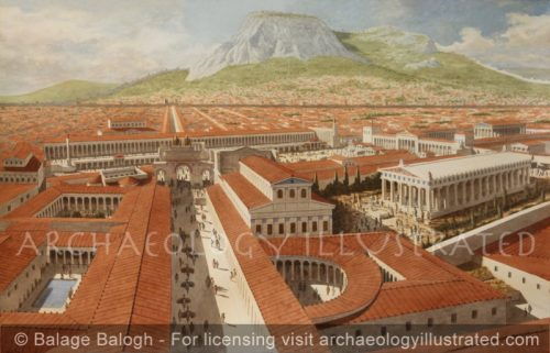 Corinth, Southern Greece, The Forum and Civic Center 2nd c, AD - Archaeology Illustrated