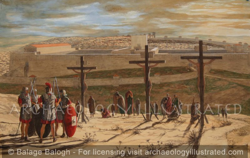 Crucifixion, Placement According to Prof. James Tabor, U. of NC - Archaeology Illustrated