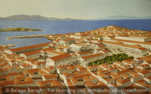 Delos, Island of Merchants, The Civic and Religious Center - Archaeology Illustrated