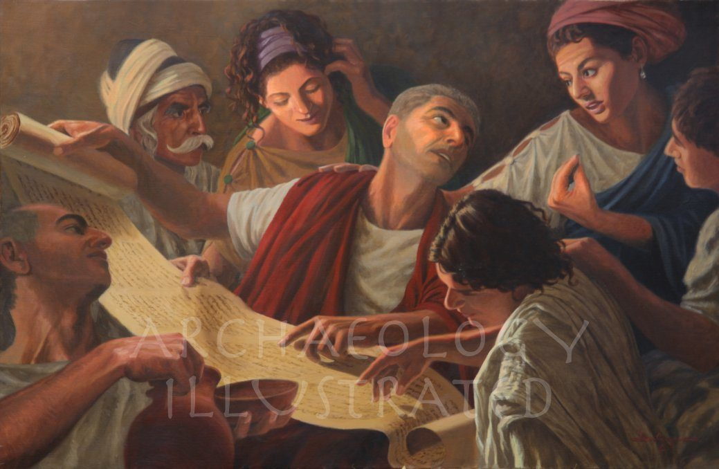 Early Christians Discussing Scripture - Archaeology Illustrated