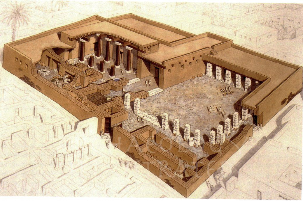 Ekron, Philistine City in Israel, The Central Temple, 7th century BC - Archaeology Illustrated