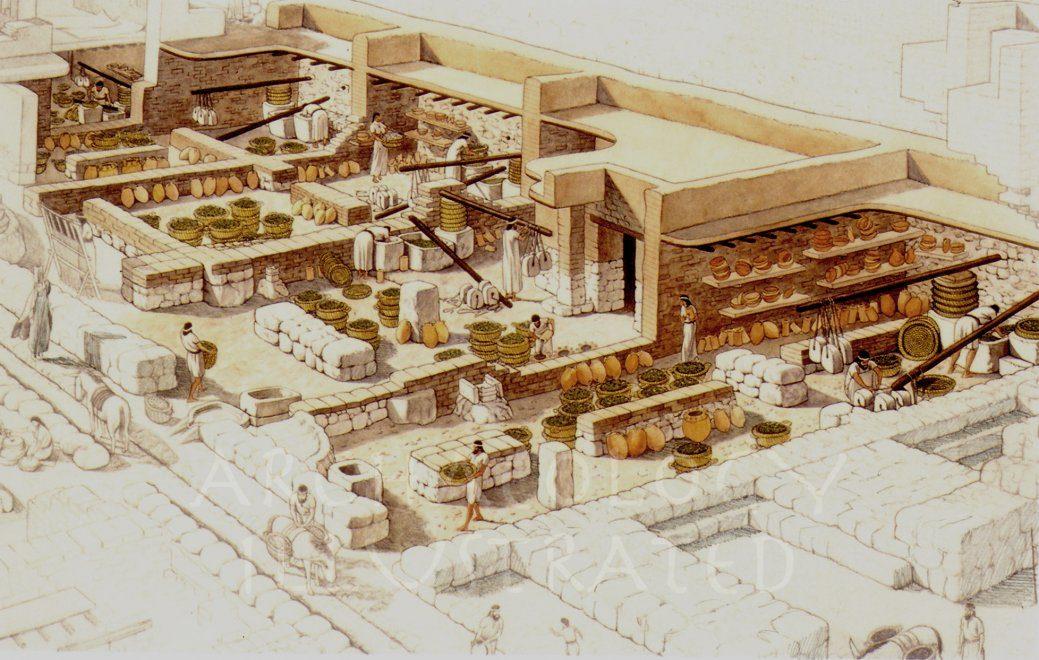 Ekron, Philistine City in Israel. Olive oil presses, 7th century BC - Archaeology Illustrated