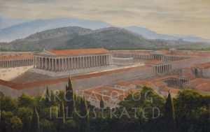 Ephesus, Temple of Artemis, The City of Ephesus in the Background, 2nd century AD - Archaeology Illustrated