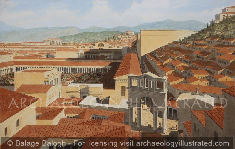Ephesus, Western Turkey, Center of Town, 2nd Century AD - Archaeology Illustrated