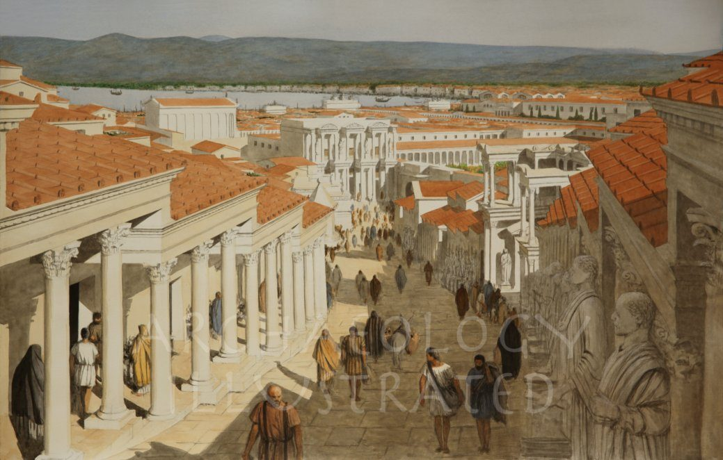 Ephesus, Western Turkey, The Curetes Street, 2nd Century AD - Archaeology Illustrated