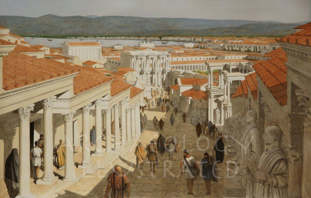 Ephesus, Western Turkey, The Curetes Street, 2nd Century AD - Archaeology Illustrated