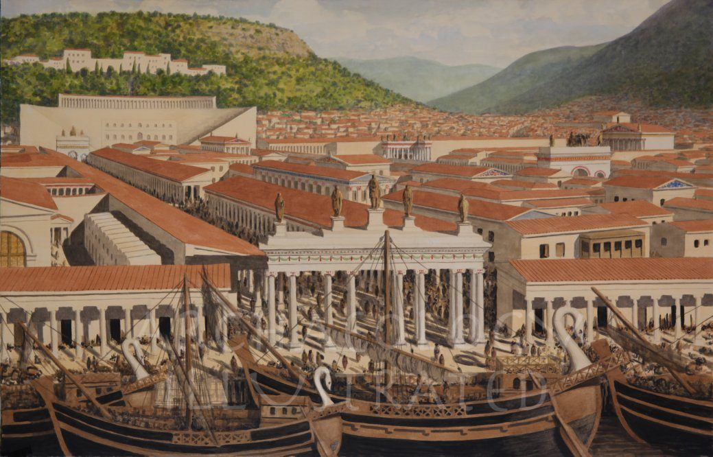 Ephesus, Western Turkey, The Harbor and City Center, 2nd Century AD - Archaeology Illustrated