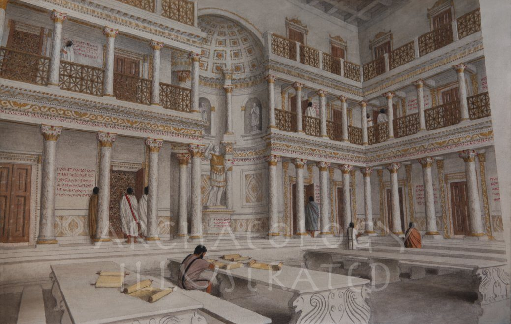 Ephesus, Western Turkey, The Interior of the Library of Celsus, 2nd Century AD - Archaeology Illustrated