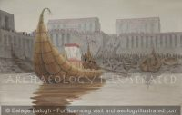 Eridu, Sumer, The Reed Boat of the Cult Image of the God Enki, 3200 BC - Archaeology Illustrated