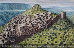 Gamla, Golan Heights, Northern Israel ,in_Ruins after the Roman Attack, 1st Century AD - Archaeology Illustrated