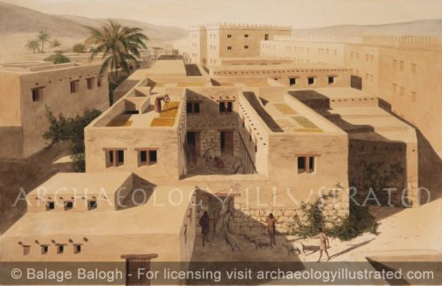 Hazor, Northern Israel, Israelite Four Room House and City Gate, 9th century BC - Archaeology Illustrated