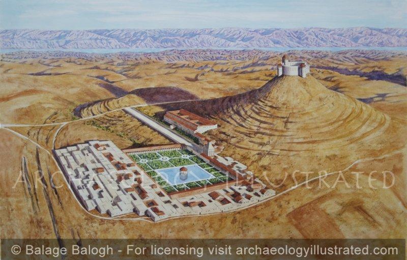 Herodium Aerial View, 1st Century BC - Archaeology Illustrated