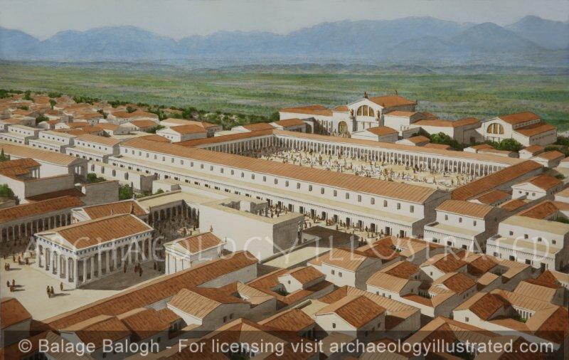 Hieropolis, Western Turkey, City Center. Laodicea Across the Plain - Archaeology Illustrated