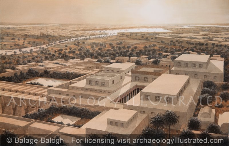 High Official's Palace at Avaris, Nile Delta, Egypt. City of Israelite Slavery. 16th century BC - Archaeology Illustrated