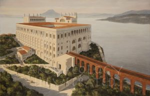 Island of Capri, Villa Jovis of the Emperor Tiberius and the Bay of Naples. 1st century AD - Archaeology Illustrated