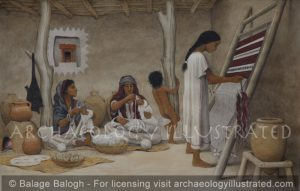 "Israelite ""Four Room House"", Courtyard Scene, Biblical Period - Archaeology Illustrated"