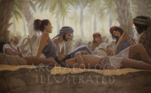 Israelites Lounging in the Oasis of Kadesh Barnea in the Sinai Desert During the Exodus - Archaeology Illustrated