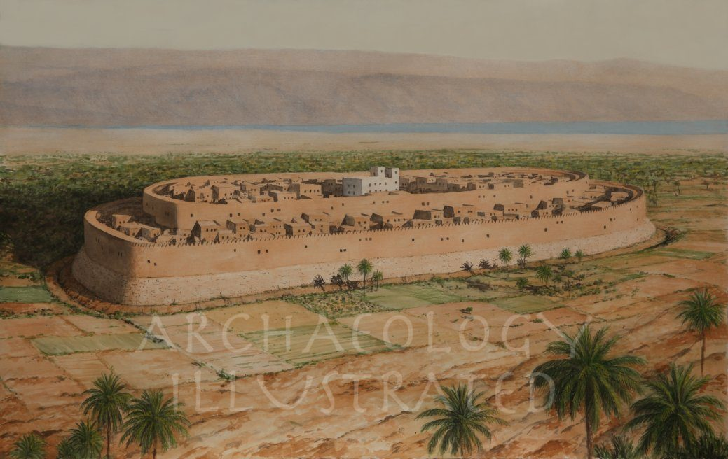 Jericho, Looking towards East, Ammon. Late Bronze Age - Archaeology Illustrated