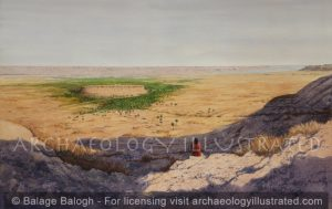 Jericho, Panoramic View. Late Bronze Age. Joshua in Foreground Contemplating Strategy - Archaeology Illustrated