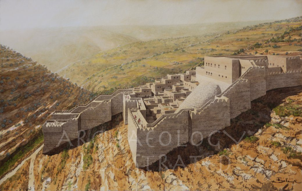 Jerusalem, City of David, King David's Palace and Gihon Spring Fortifications, 10th century BC - Archaeology Illustrated