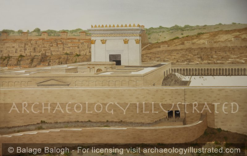 Jerusalem, Herod's Temple, Looking West - Archaeology Illustrated