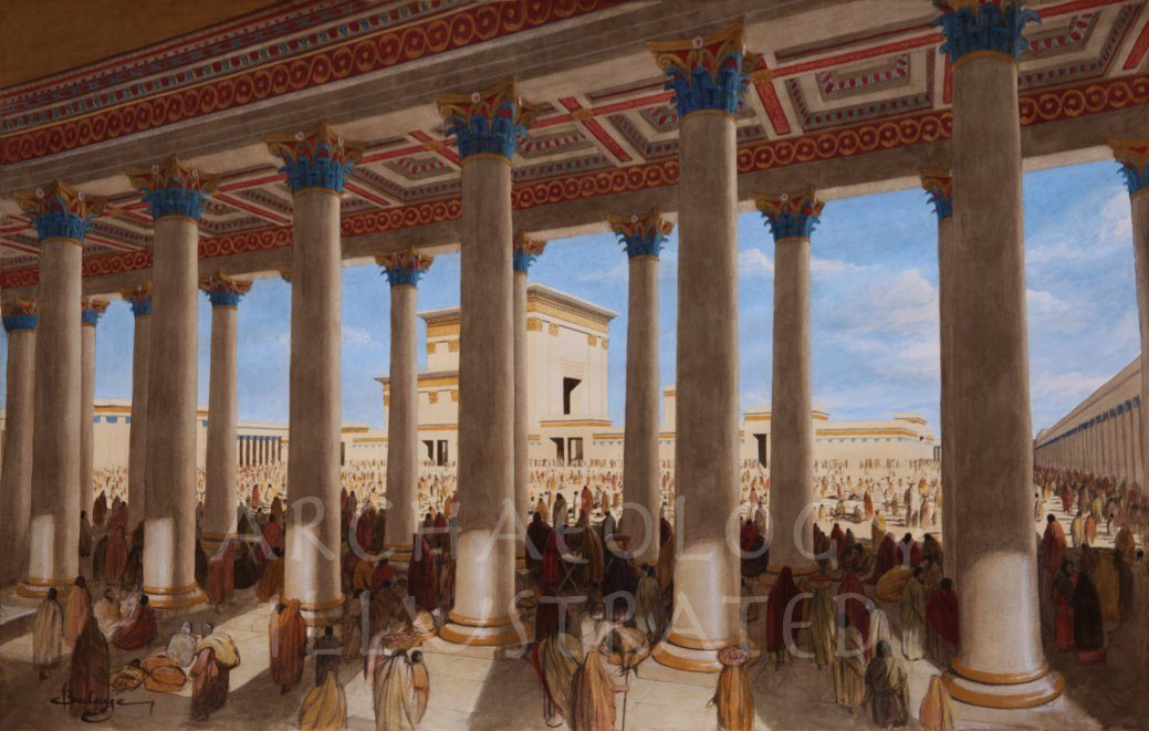 Jerusalem, Herod's Temple, The Basilica, 1st c. AD - Archaeology Illustrated