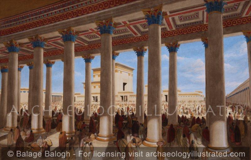 Jerusalem, Herod's Temple, The Basilica, 1st c. AD - Archaeology Illustrated