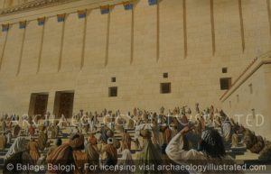 Jerusalem, Herod's Temple. Double Gate Stair Case at the Southern Wall - Archaeology Illustrated