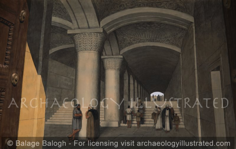 Jerusalem, Inside the Double Gate Passage to the Temple Mount - Archaeology Illustrated