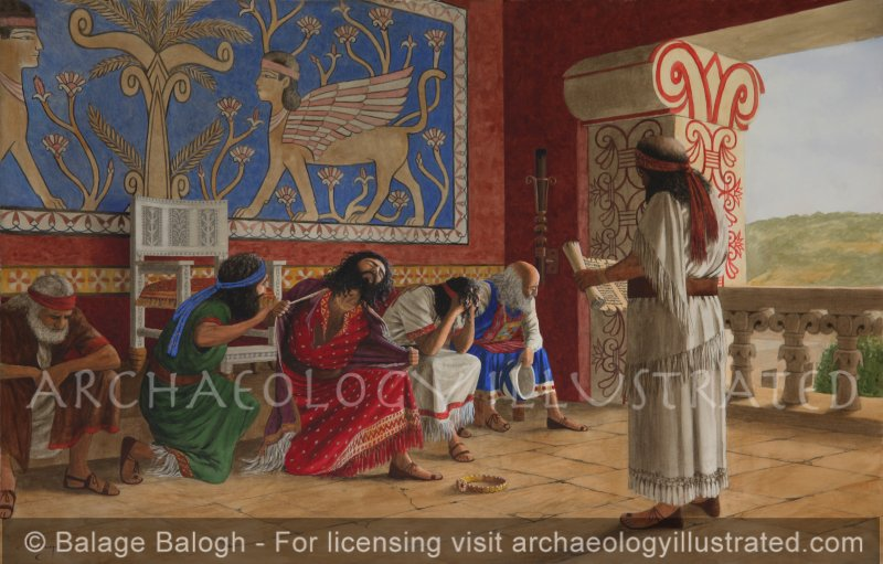 Jerusalem, King Josiah Hears the Words of Lost Torah Scroll, 7th century BC - Archaeology Illustrated