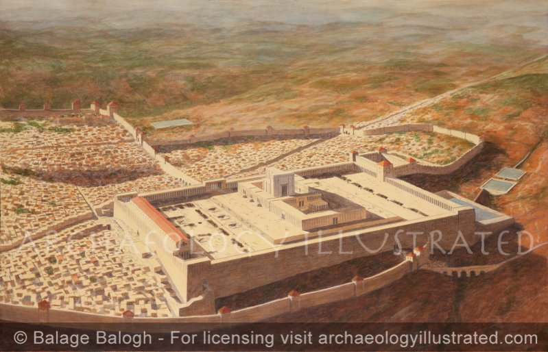 Jerusalem Temple Mount Aerial View - Archaeology Illustrated