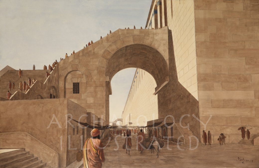 Jerusalem, Temple Mount SW Corner - Archaeology Illustrated